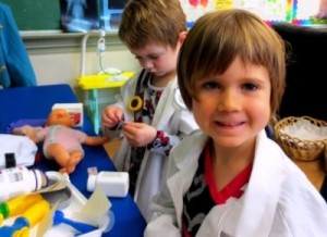 Hospital Dramatic play-Grace and Juliet-c